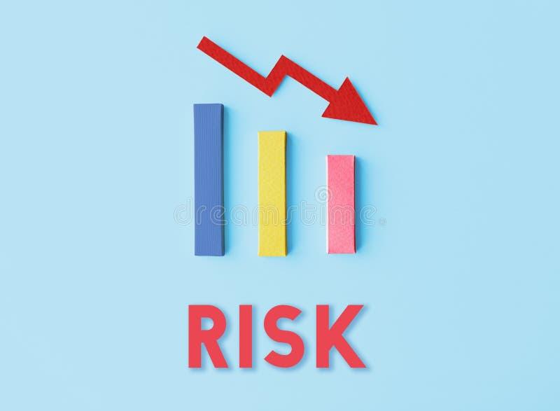 Het Concept van de de Moeilijkheidsval van het schuldrisico royalty-vrije stock foto