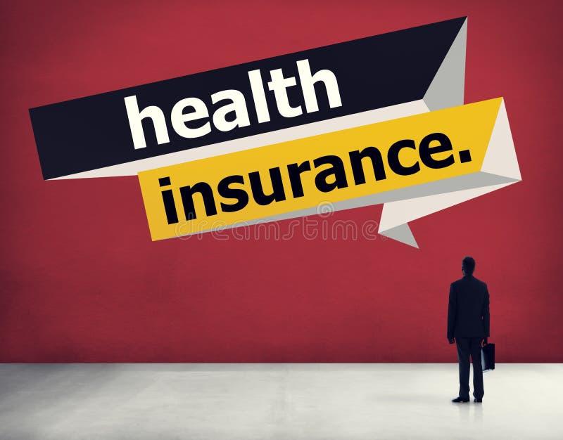 Het Concept van de de Risicoberekeningsverzekering van de ziektekostenverzekeringbescherming stock illustratie