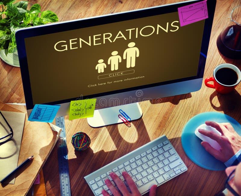 Het Concept van de de Samenhorigheidsverhouding van de generatiesfamilie royalty-vrije stock foto