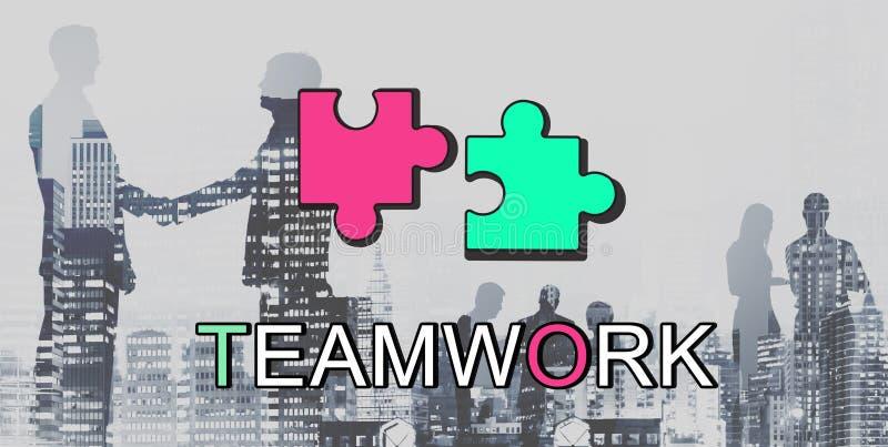 Het Concept van de de Samenwerkingsverbinding van groepswerkalliance royalty-vrije stock foto