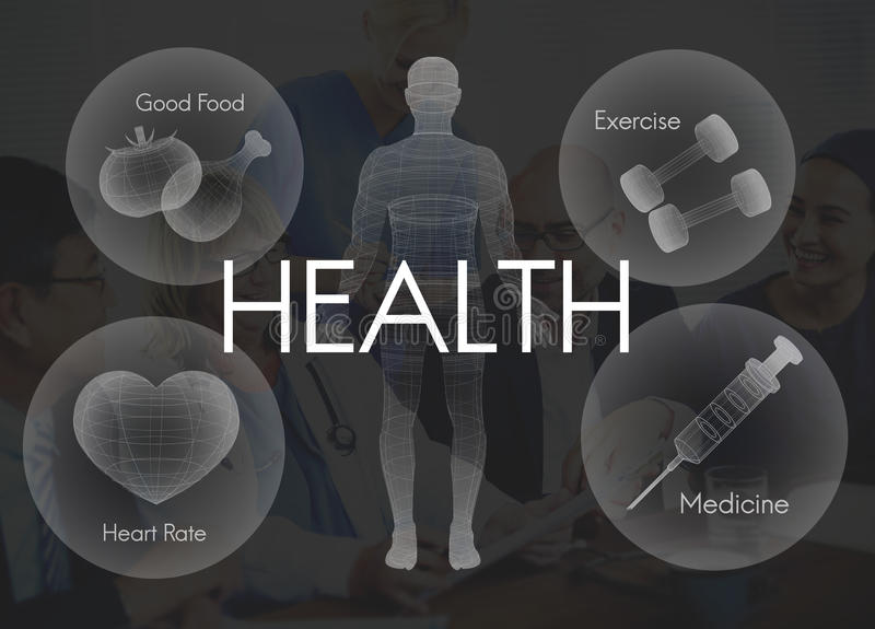 Het Concept van de de Vitaliteitsgezondheidszorg van Wellness van het gezondheidswelzijn royalty-vrije stock fotografie
