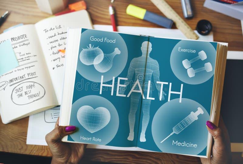 Het Concept van de de Vitaliteitsgezondheidszorg van Wellness van het gezondheidswelzijn stock afbeelding