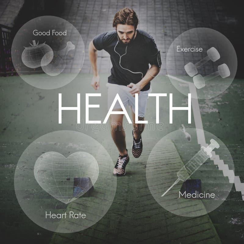 Het Concept van de de Vitaliteitsgezondheidszorg van Wellness van het gezondheidswelzijn royalty-vrije stock afbeelding