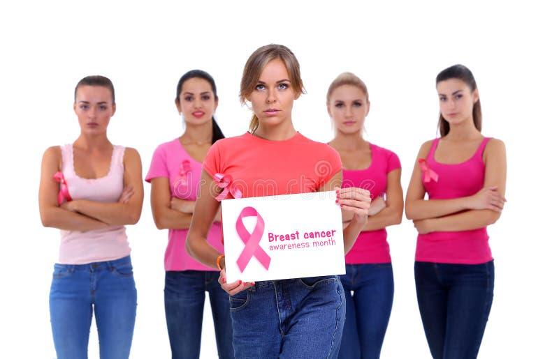 Het concept van de de voorlichtingsgezondheid van borstkanker stock afbeeldingen