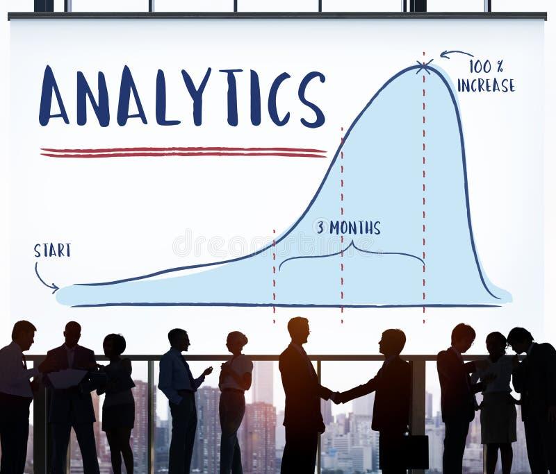 Het Concept van de de Vooruitgangsstrategie van het Analyticsrapport royalty-vrije stock afbeeldingen