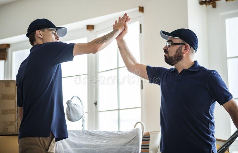 Het concept van de dienstmensen van de meubilairlevering royalty-vrije stock foto