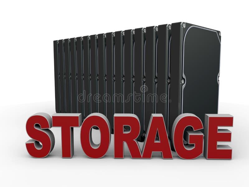 Het concept van de digitale gegevensopslag stock illustratie