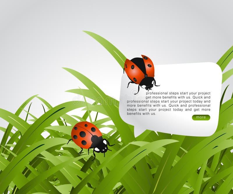 Het concept van de ecologie royalty-vrije illustratie