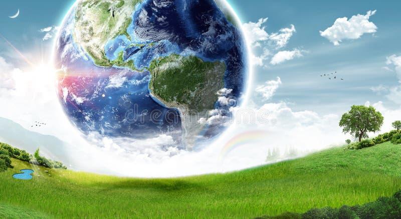 Het concept van de ecologieaarde - Elementen van dit die beeld door NASA wordt geleverd stock foto