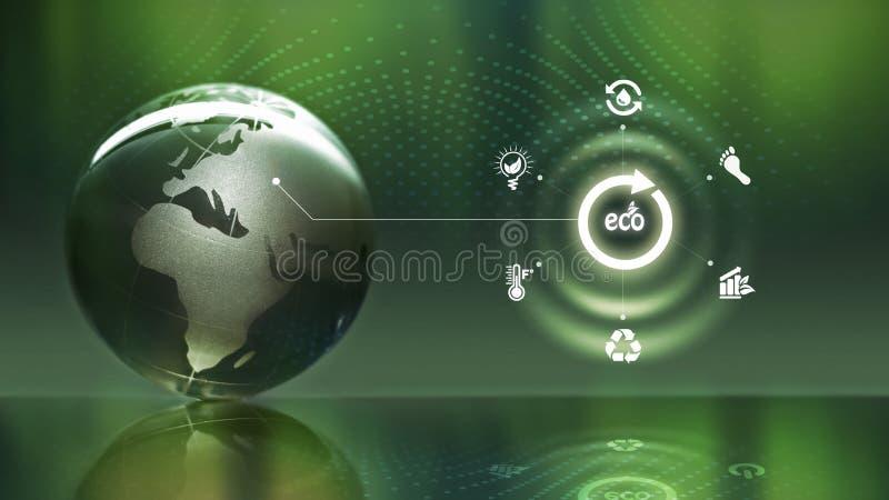 Het concept van de ecologiecirkel vector illustratie