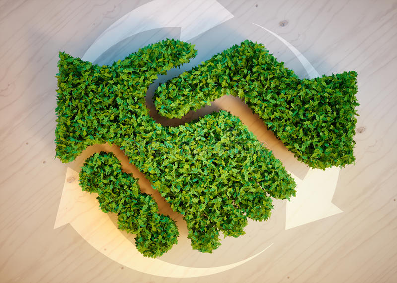 Het concept van de ecologieovereenkomst stock illustratie