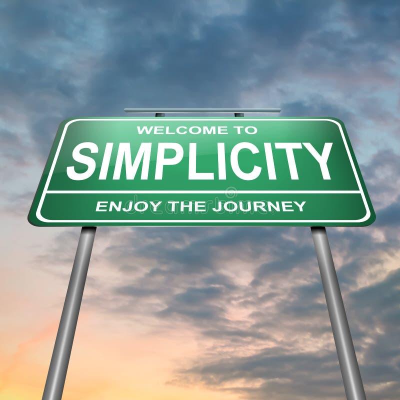 Het concept van de eenvoud. stock illustratie