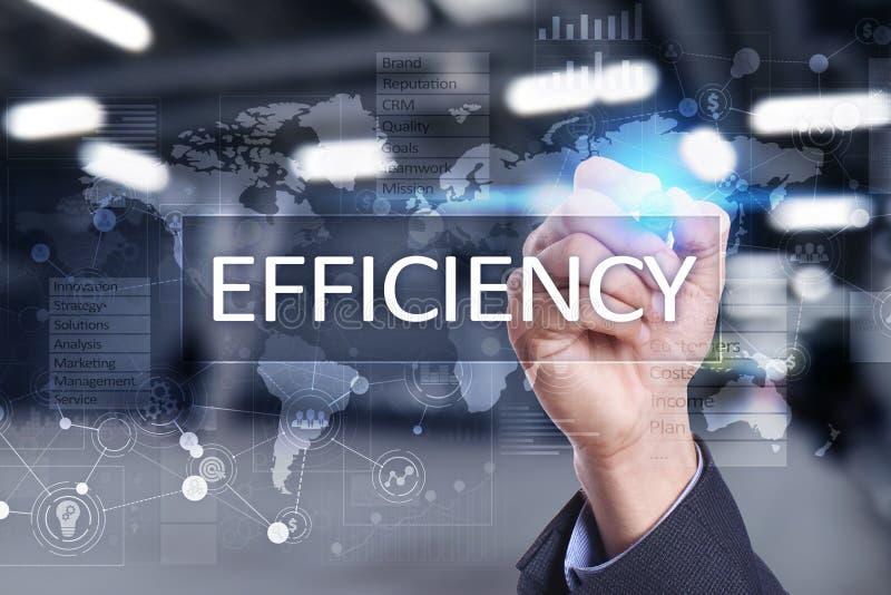 Download Het Concept Van De Efficiencygroei Zaken En Technologie Het Schrijven Op Het Virtueel Scherm Stock Illustratie - Illustratie bestaande uit presentatie, efficiency: 114225042
