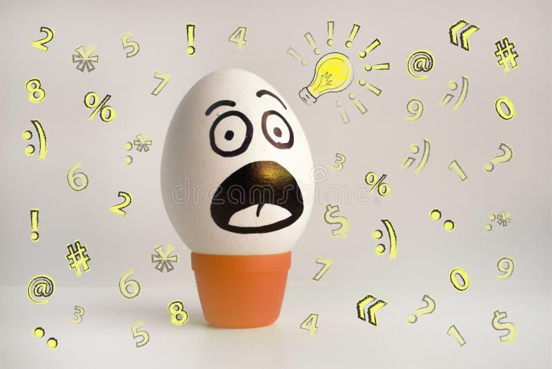 Het concept van de eierenemotie Eierengezicht Foto voor ontwerp vector illustratie