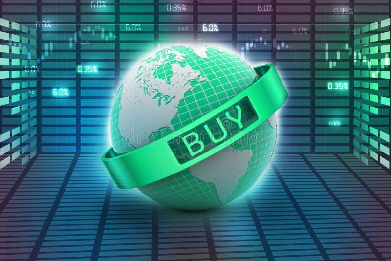 Het concept van de elektronische handel stock illustratie