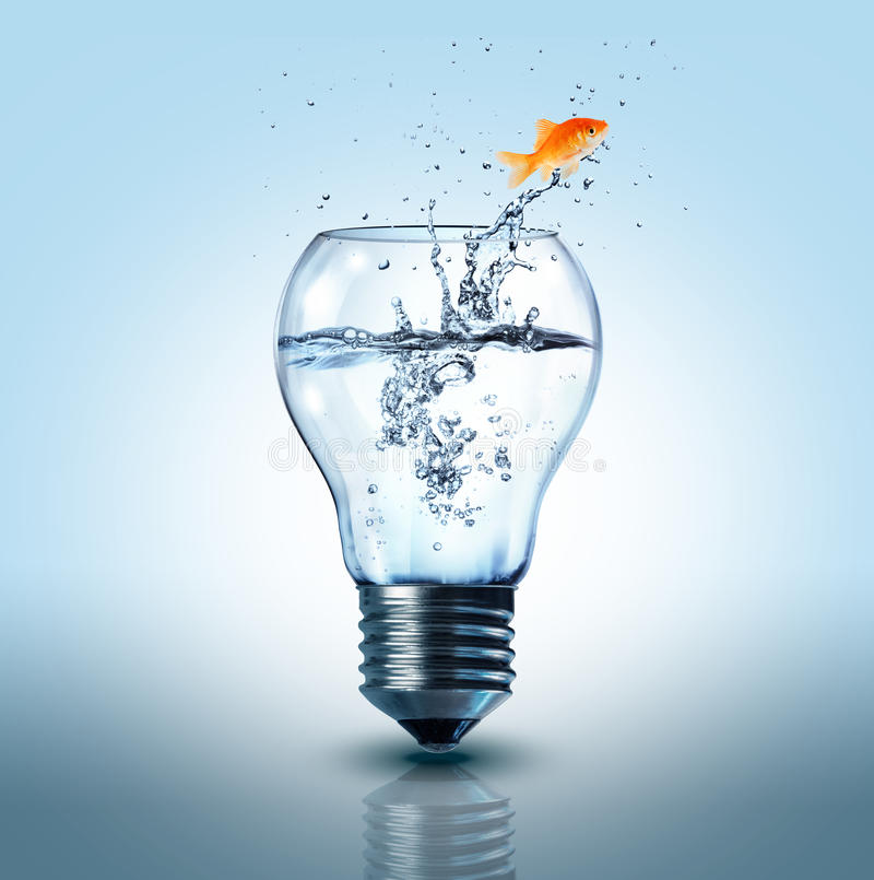 Het concept van de energieverandering stock afbeelding