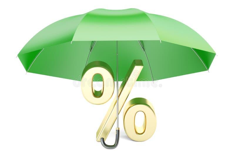 Het concept van de financiële en bankwezenstabiliteit, het 3D teruggeven royalty-vrije illustratie