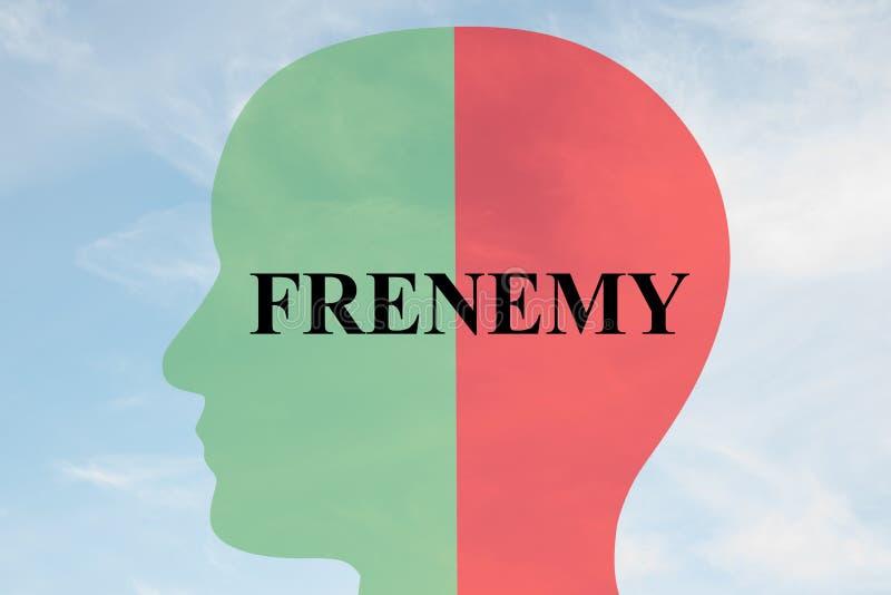 Het concept van de Frenemypersoonlijkheid stock illustratie