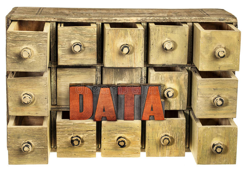 het concept van de gegevensopslag royalty-vrije stock foto