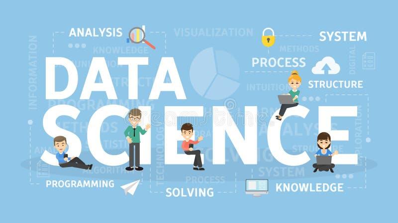 Het concept van de gegevenswetenschap vector illustratie