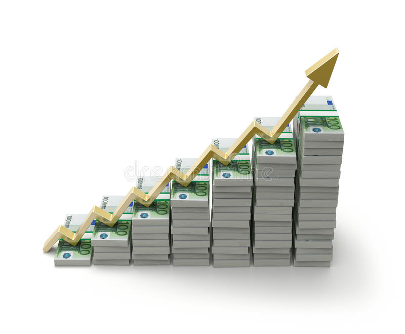 Het concept van de groei royalty-vrije illustratie