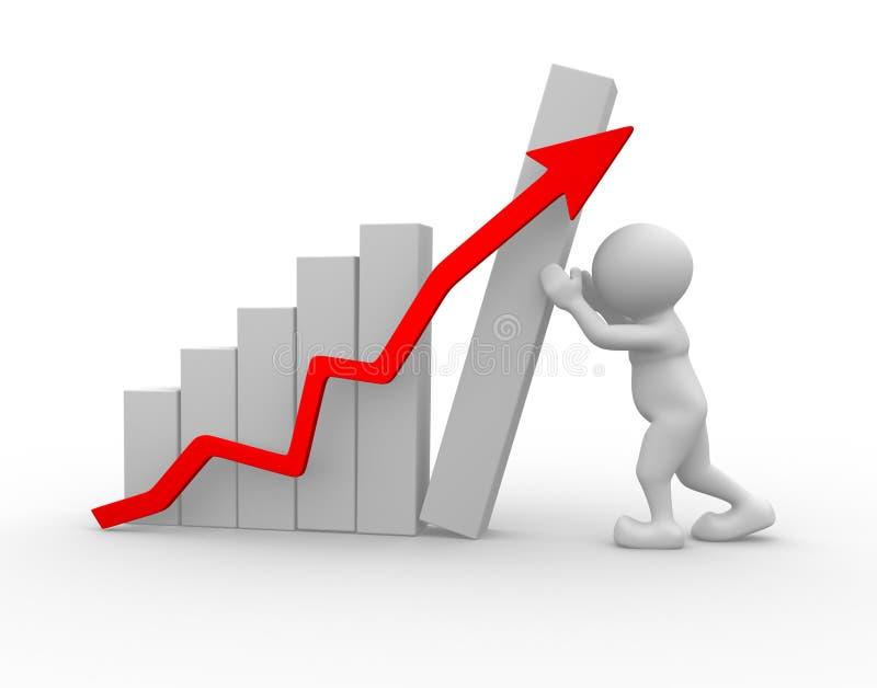Het concept van de groei vector illustratie