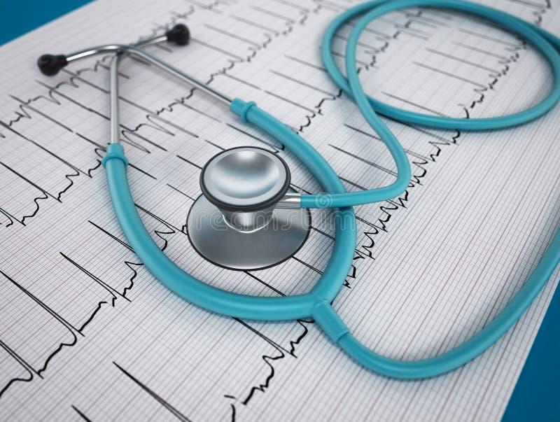 Het concept van de hartgezondheid stock illustratie