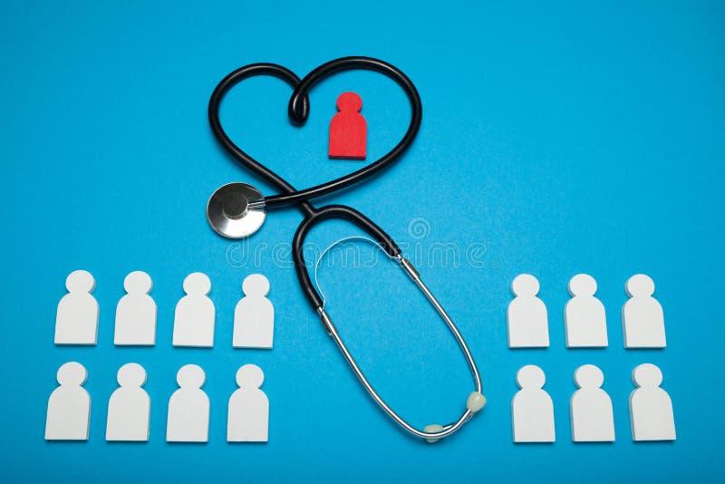 Het concept van de hartgezondheid, cardiologie Medische pati?nt royalty-vrije stock afbeelding