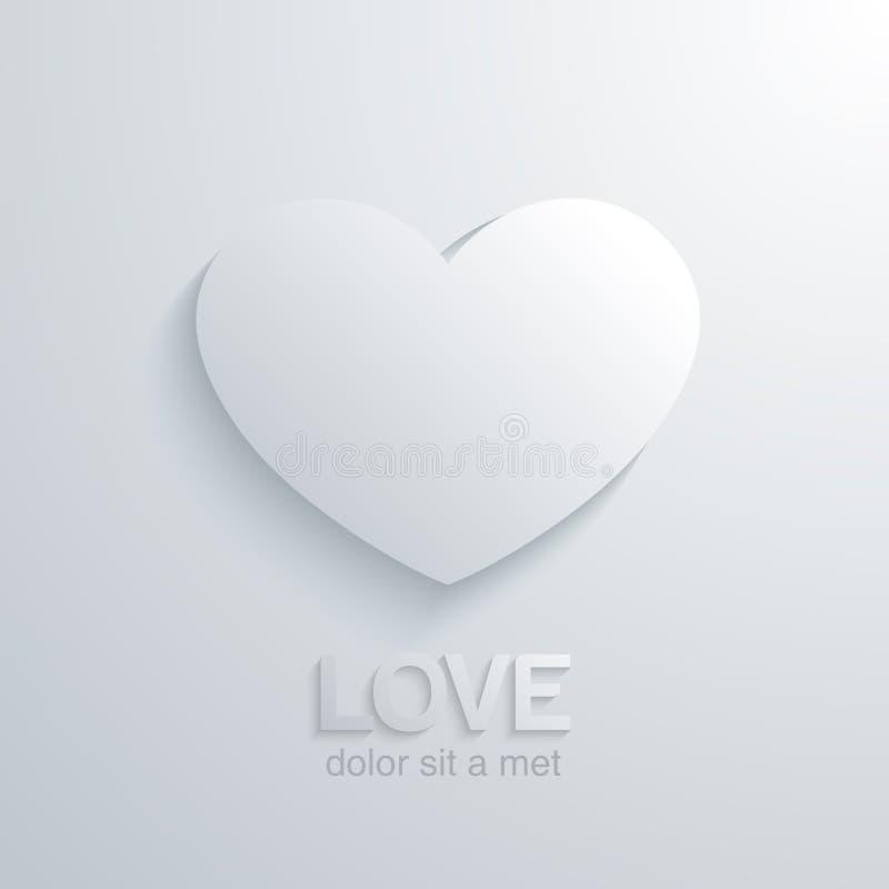 Het concept van de hartliefde. Het ontwerpmalplaatje van de huwelijkskaart. vector illustratie