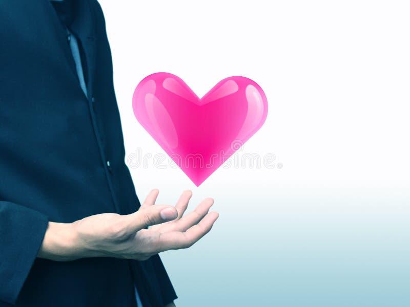 Het concept van de het hartliefde van de mensenholding, de medische dienst stock foto's