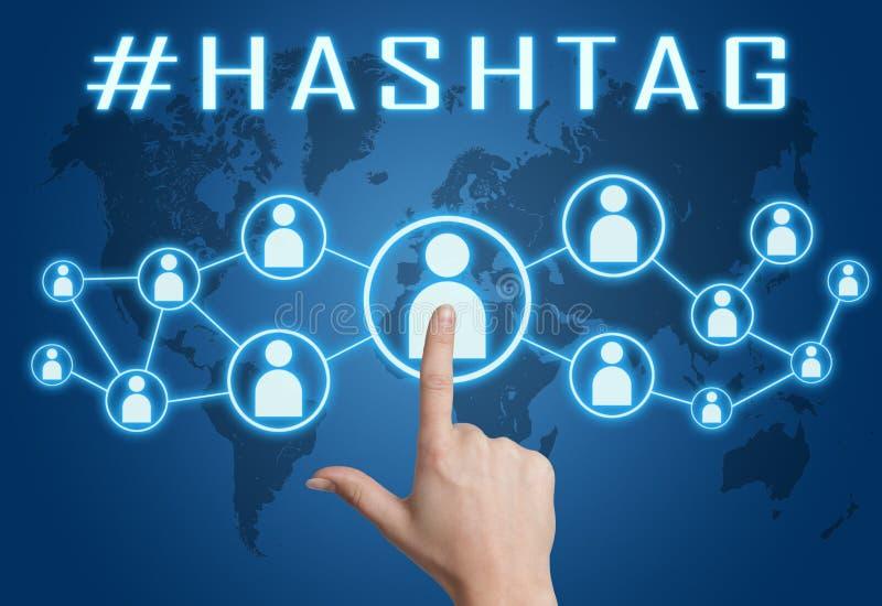 Het concept van de Hashtagtekst stock foto