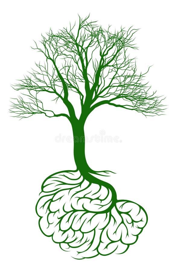 Het concept van de hersenenboom royalty-vrije illustratie