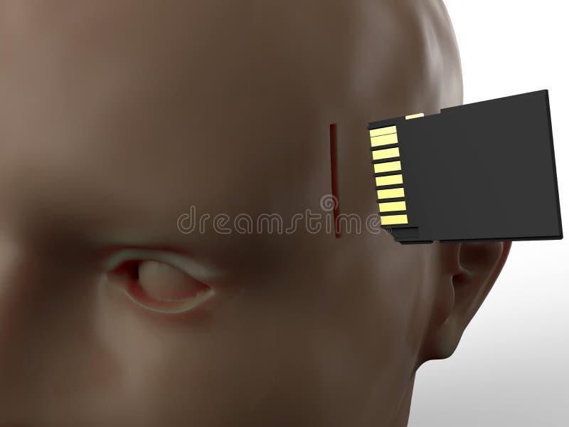 Het concept van de hersenenverbetering stock illustratie