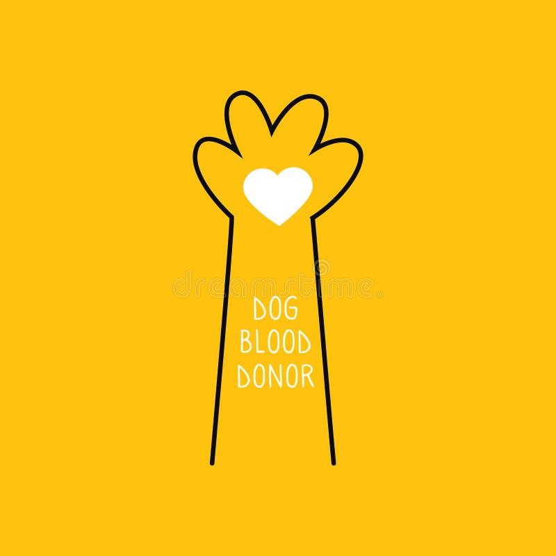 Het concept van de honddonor De schenking van het bloed Vector illustratie royalty-vrije illustratie