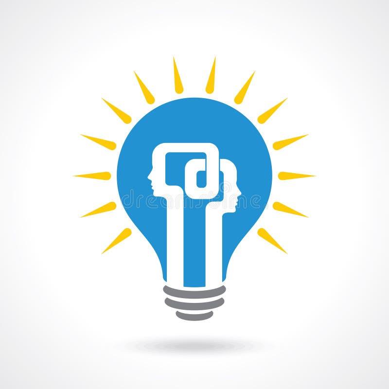 Het concept van de ideeuitwisseling - Illustratie stock illustratie