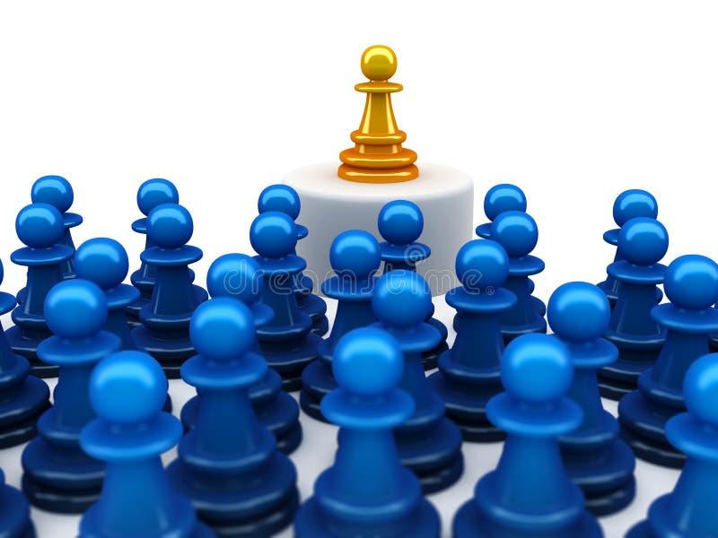 Het concept van de individualiteit royalty-vrije illustratie