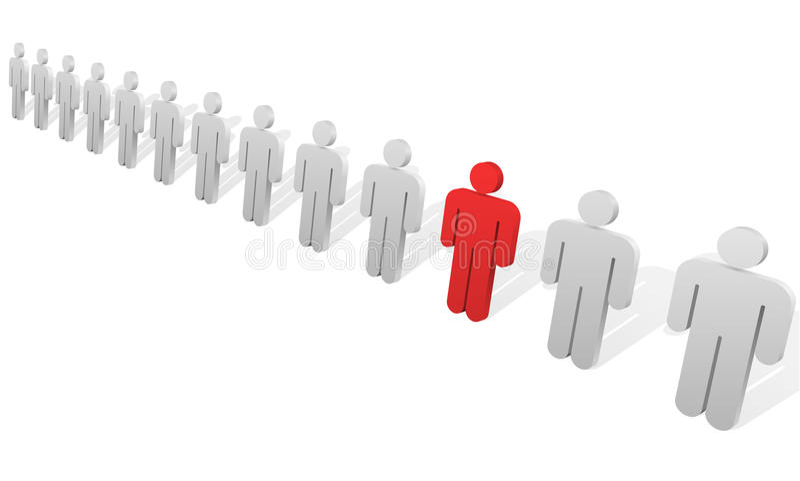 Het concept van de individualiteit. vector illustratie