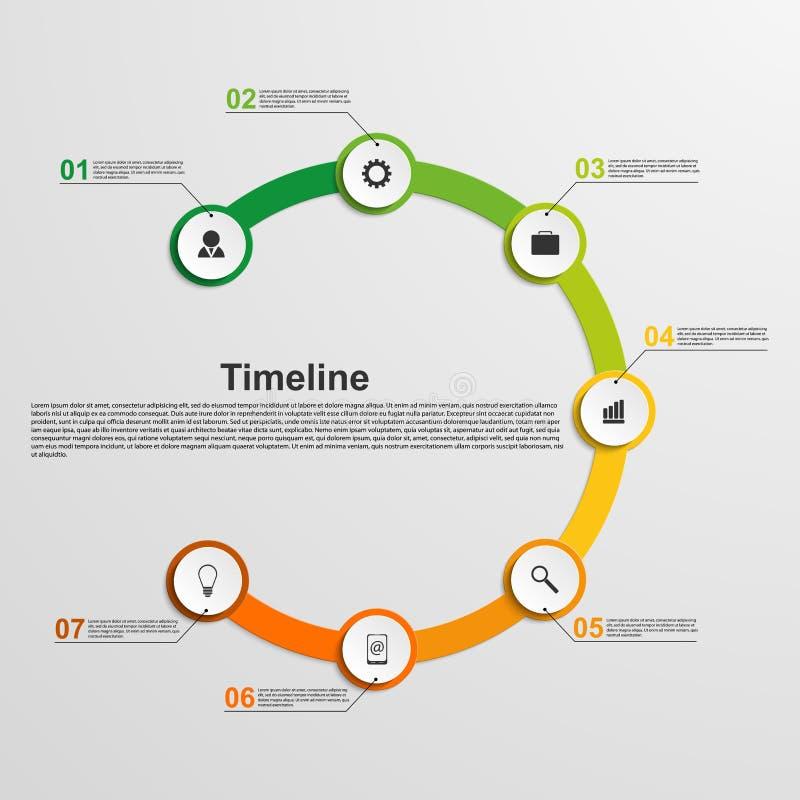 Het concept van de Infographicschronologie royalty-vrije illustratie