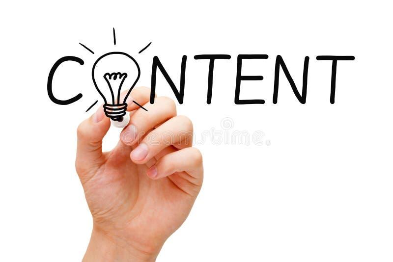 Het Concept van de inhouds Gloeilamp royalty-vrije stock afbeelding