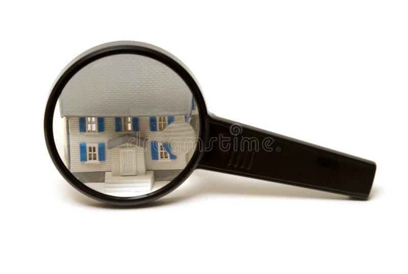 Het Concept van de Inspectie van het huis stock fotografie