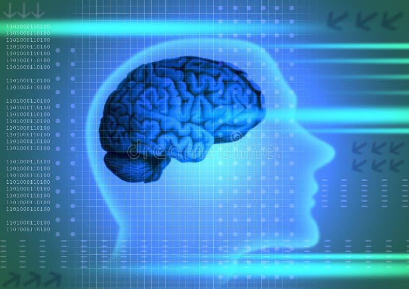 Het concept van de intelligentie royalty-vrije illustratie