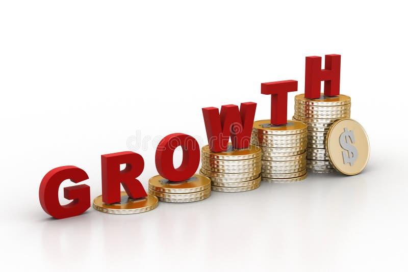 Het concept van de investeringsgroei vector illustratie