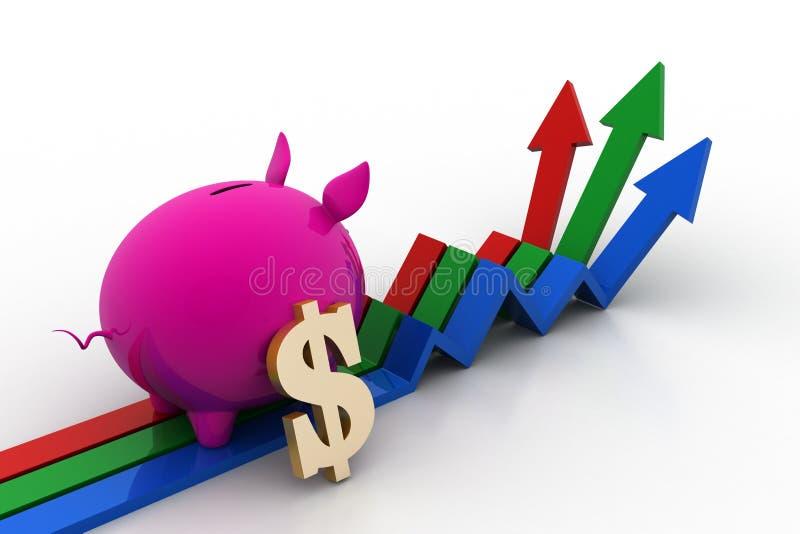 Het concept van de investeringsgroei royalty-vrije illustratie