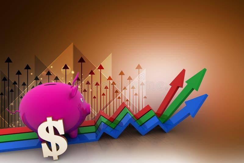 Het concept van de investeringsgroei stock illustratie