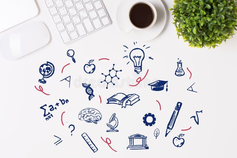 Het concept van de kennis vector illustratie