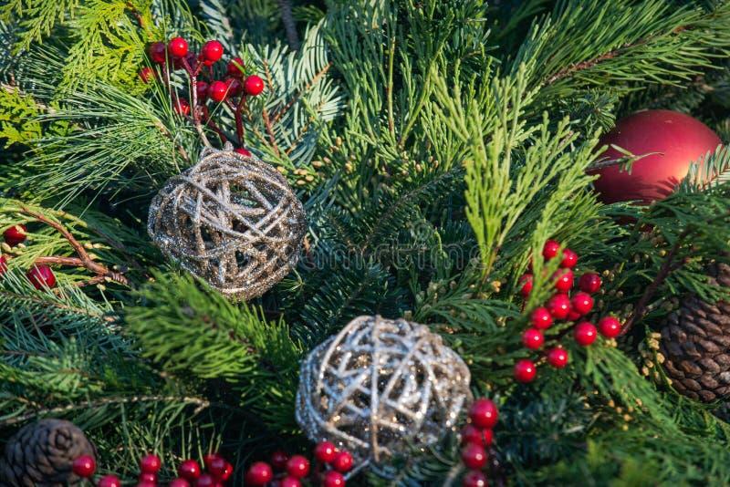 Het Concept van de Kerstmisdecoratie De traditie van de de wintervakantie royalty-vrije stock foto's