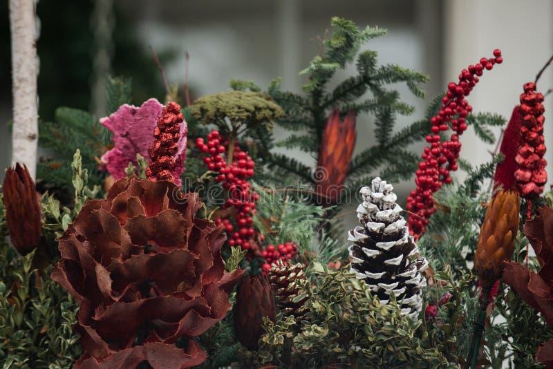 Het Concept van de Kerstmisdecoratie De traditie van de de wintervakantie stock foto's