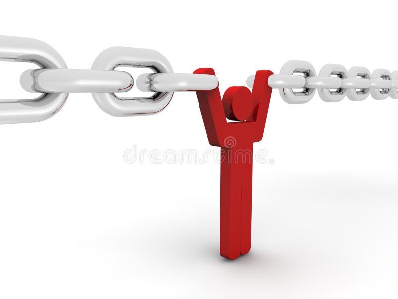 Het concept van de ketting vector illustratie
