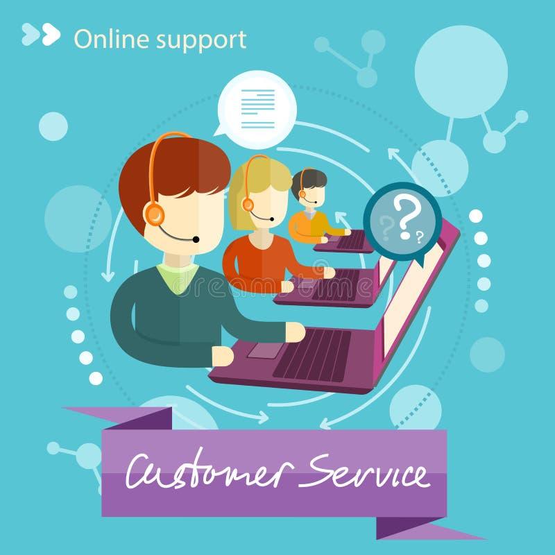 Het Concept van de klantendienst Grungeachtergrond voor Uw Publicaties vector illustratie