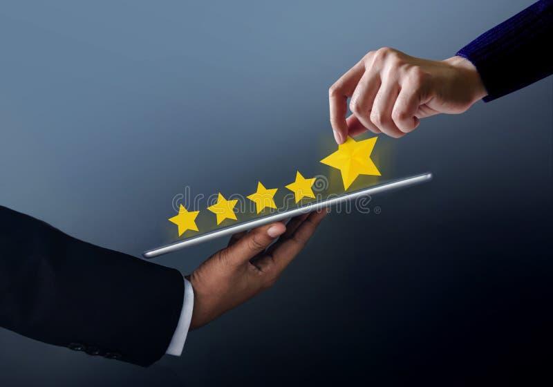Het Concept van de klantenervaring De beste Uitstekende Diensten voor online royalty-vrije stock foto